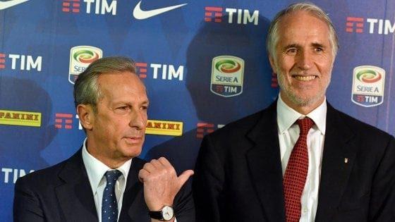 Gaetano Miccichè con il presidente del Coni Giovanni Malagò. Agf